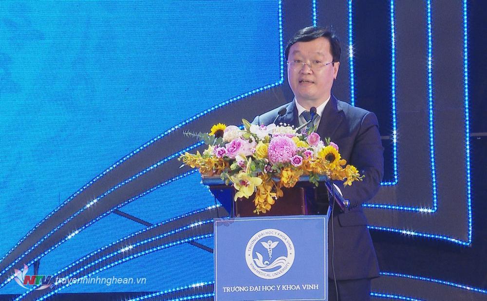 Chủ tịch UBND tỉnh Nguyễn Đức Trung phát biêu tại lễ kỷ niệm.