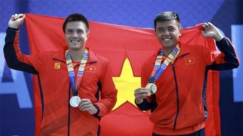 Hai tay vợt đã làm nên lịch sử cho quần vợt Việt Nam tại đấu trường SEA Games.