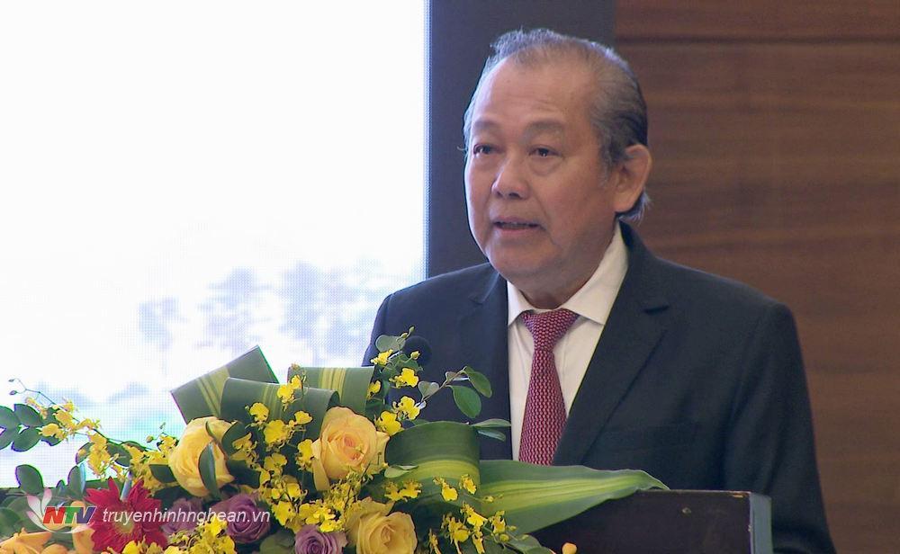 Phó Thủ tướng Thường trực Chính phủ Trương Hòa Bình phát biểu khai mạc Hội thảo.