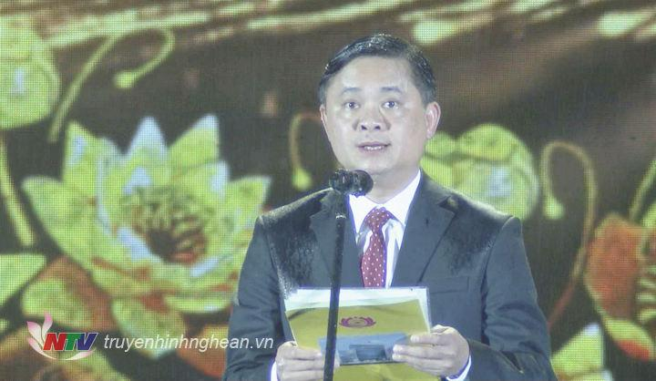 Chủ tịch UBND tỉnh Thái Thanh Quý phát biểu khai mạc.