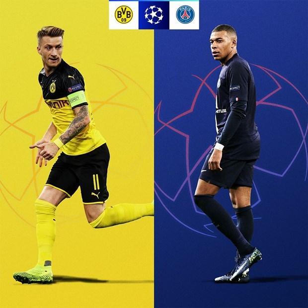 Borussia Dortmund - Paris Saint Germain. PSG bất bại ở vòng bảng, nhưng vài mùa giải gần đây, họ liên tục bị loại sớm từ vòng 1/8. Lần này, liệu Mbappe có đổi được vận? (Nguồn: UEFA)