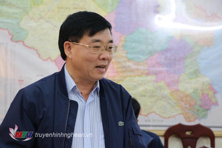 Phó Bí thư Tỉnh ủy Nguyễn Văn Thông phát biểu chỉ đạo hội nghị.