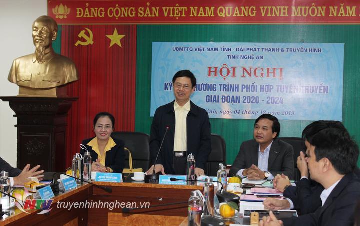 Phó Bí thư Thường trực Tỉnh ủy Nguyễn Xuân Sơn khẳng định việc ký kết