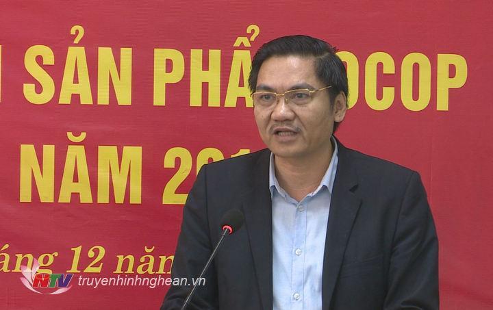 Phó Chủ tịch UBND tỉnh Hoàng Nghĩa Hiếu phát biểu tại lễ khai mạc.
