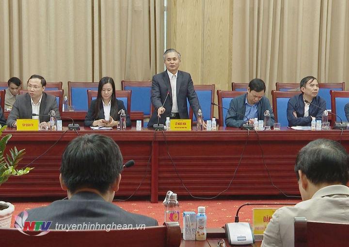 Phó Chủ tịch UBND tỉnh Lê Ngọc Hoa