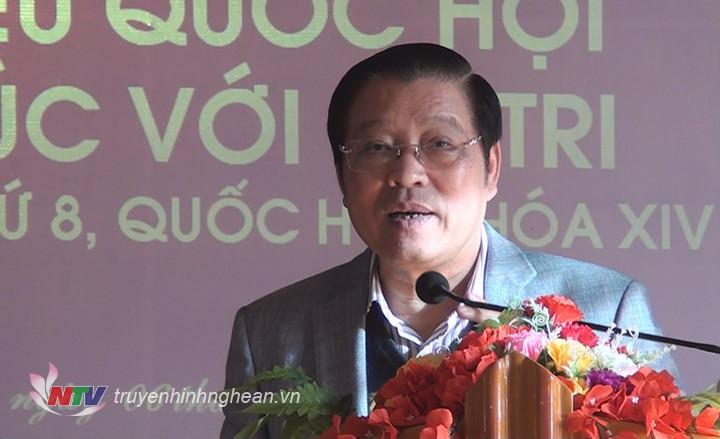 Trưởng Ban Nội chính Trung ương Phan Đình Trạc giải trình ý kiến, kiến nghị của cử tri.