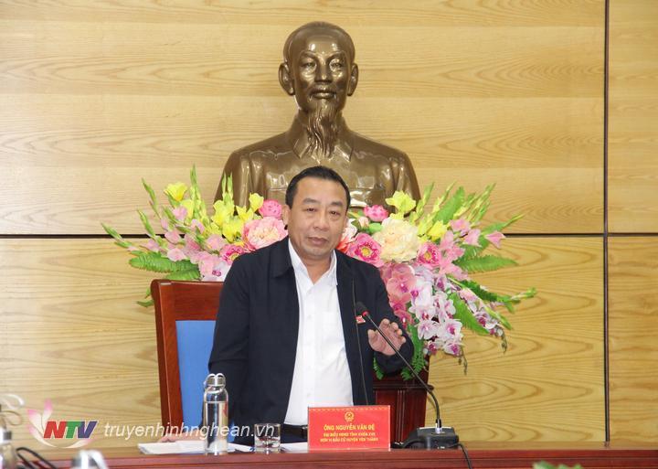 Ông Nguyễn Văn Đệ - Giám đốc Sở Nông nghiệp và Phát triển nông thôn kết luận tại buổi thảo luận.