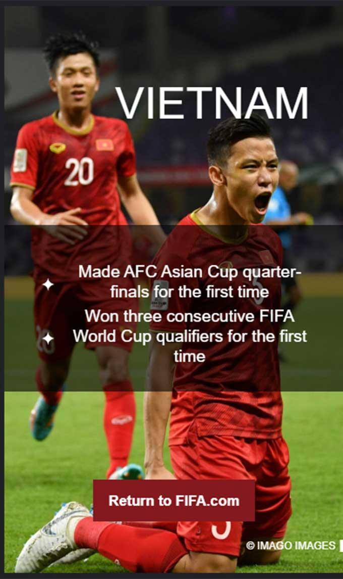 Việt Nam vào top 12 đội gây bất ngờ nhất thế giới do FIFA bình chọn trong năm 2019