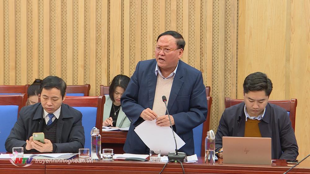 Đại diện Hội cựu chiến binh tỉnh phát biểu tại hội nghị.