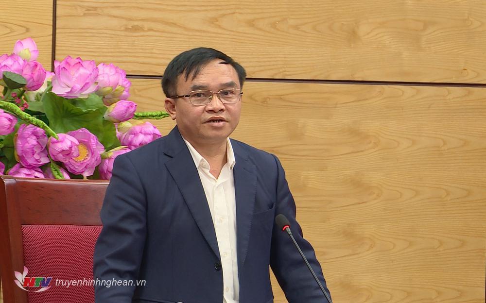 Đồng chí Ngọc Kim Nam - Ủy viên Ban Thường vụ, Trưởng Ban Dân vận Tỉnh ủy, Phó trưởng Ban Thường trực Ban chỉ đạo QCDC cơ sở kết luận cuộc họp.