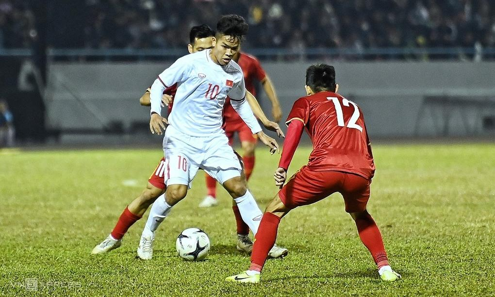 Tiền vệ Hữu Thắng ghi một bàn, kiến tạo bàn còn lại cho U22 Việt Nam.