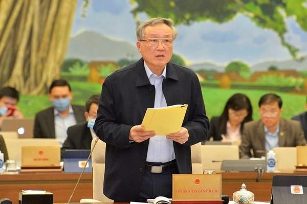 Chánh án TAND tối cao Nguyễn Hòa Bình