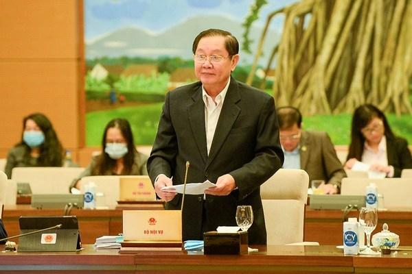 Bộ trưởng Nội vụ Lê Vĩnh Tân