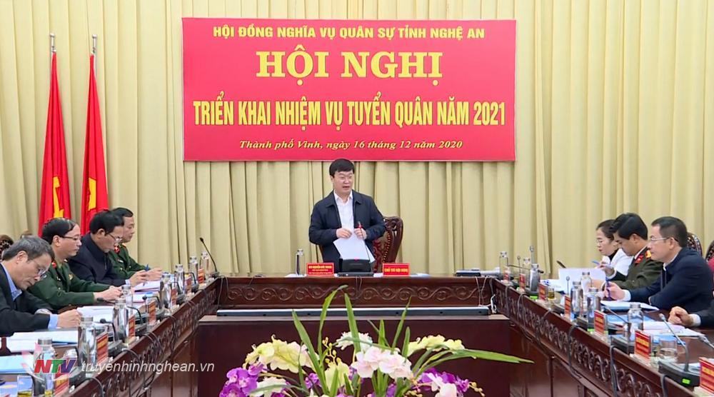 Chủ tịch UBND tỉnh Nguyễn Đức Trung phát biểu kết luận tại hội nghị.