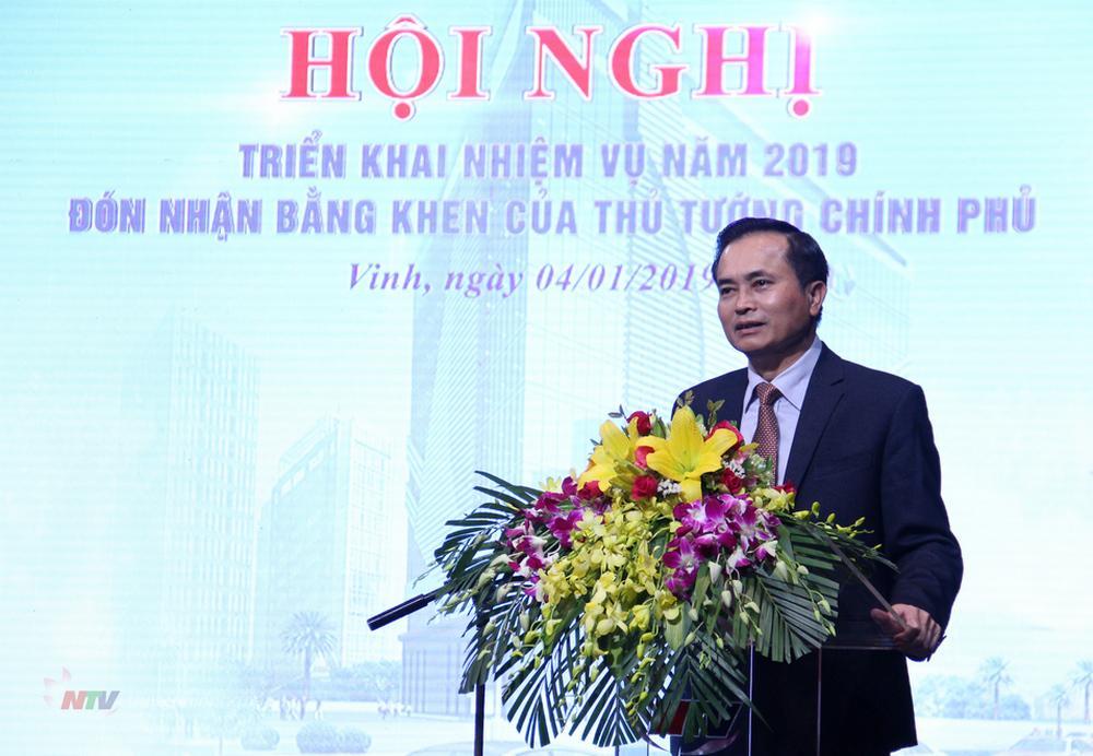Phó Chủ tịch UBND tỉnh Lê Ngọc Hoa phát biểu chỉ đạo tại hội nghị.