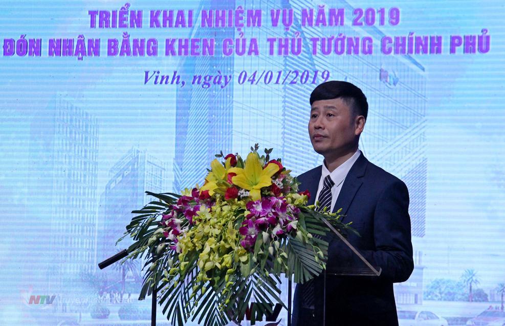 Đồng chí Trần Minh Ngọc - Phó Giám đốc Đài báo cáo kết quả