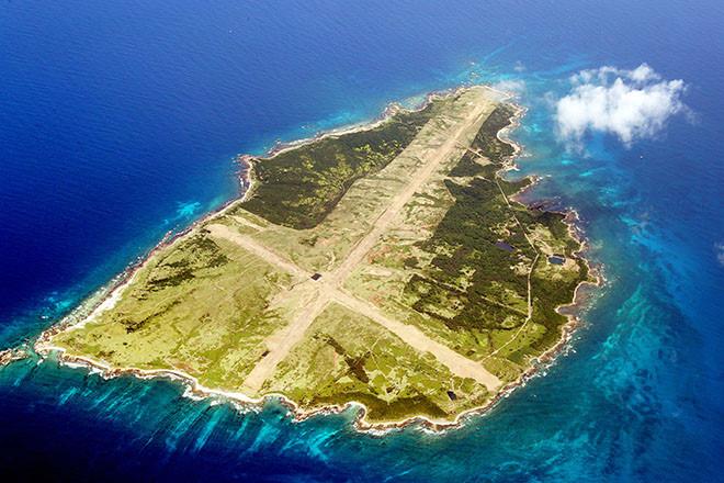 Đảo Mageshima nhìn từ trên không.