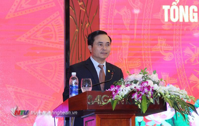 Phó Chủ tịch UBND tỉnh Lê Ngọc Hoa phát biểu tại hội nghị.
