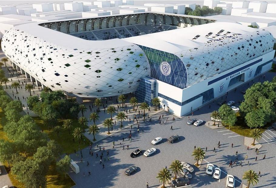 """Al-Maktoum (thành phố Dubai, sức chứa 15.000 chỗ ngồi): Nhìn từ bên ngoài, thiết kế của sân Al-Maktoum khiến nhiều người liên tưởng đến """"thánh địa"""" Allianz Arena của CLB Bayern Munich, Al-Maktoum là sân bóng rất hiện đại, song sức chứa khiêm tốn chỉ 15.000 chỗ ngồi. Sân Al-Maktoum sẽ tổ chức 4 trận vòng bảng, 1 trận vòng 16 đội và tứ kết."""