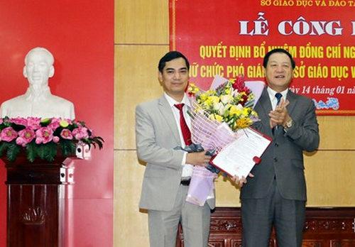 Đồng chí Lê Minh Thông trao quyết định bổ nhiệm cho đồng chí Nguyễn Văn Khoa.