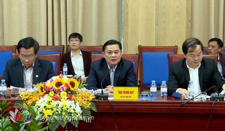 Chủ tịch UBND tỉnh Thái Thanh Quý khẳng định tại buổi làm việc: Về phía tỉnh Nghệ An luôn xác định đây là dự án quan trọng có tác động rất lớn đến thu hút đầu tư, kết nối phát triển du lịch của tỉnh, cần sớm hoàn thiện để thúc đẩy KT-XH phát triển.