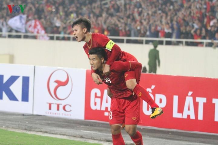Vào phút 17, U23 Việt Nam có bàn thắng vươn lên dẫn trước do công của Hà Đức Chinh.