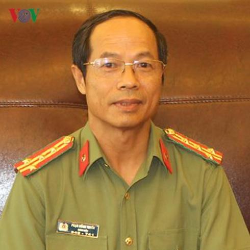 Đại tá Phạm Hồng Tuyến -Giám đốc Công an tỉnh Hòa Bình