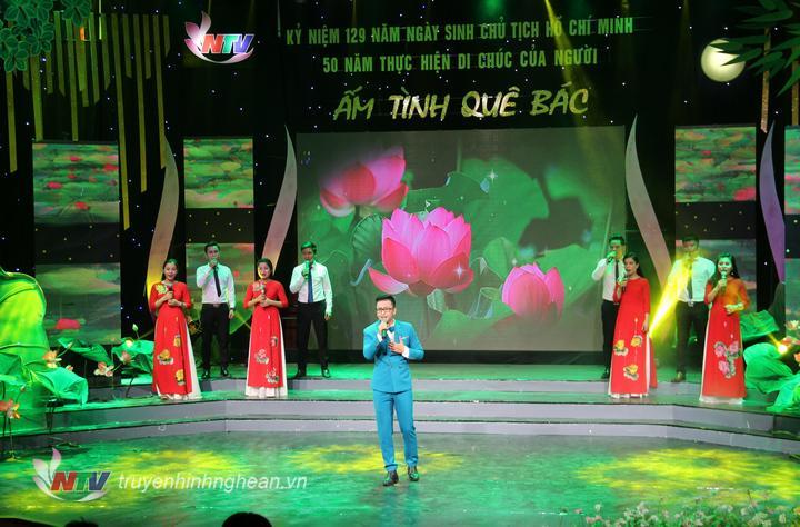 thức ca khúc Chúng con hát về Người, một sáng tác của nhạc sỹ Hồ Hữu Thới do ca sỹ Sỹ Nhật và tốp ca thể hiện.