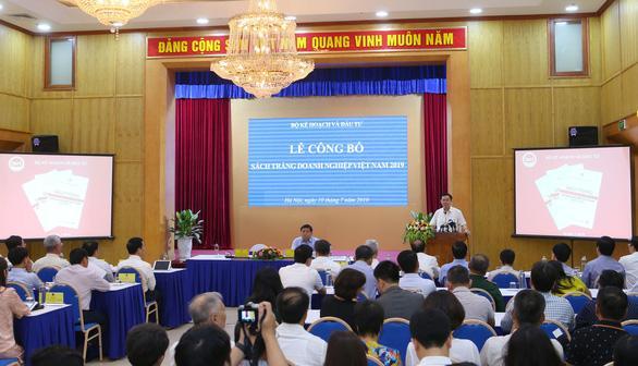 Lần đầu tiên Bộ Kế hoạch - đầu tư công bố sách trắng về doanh nghiệp VN - Ảnh: ĐT