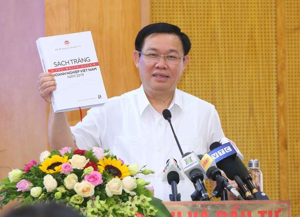 Phó thủ tướng Vương Đình Huệ tin tưởng Sách trắng là bức tranh toàn cảnh, tin cậy về doanh nghiệp VN - Ảnh: ĐT
