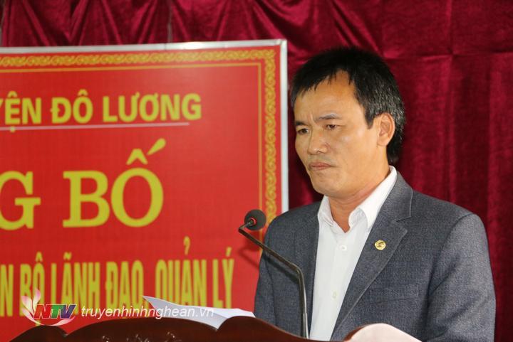 Giám đốc TT Văn hóa, thể thao và Truyền thông huyện Đô Lương nhận nhiệm vụ.