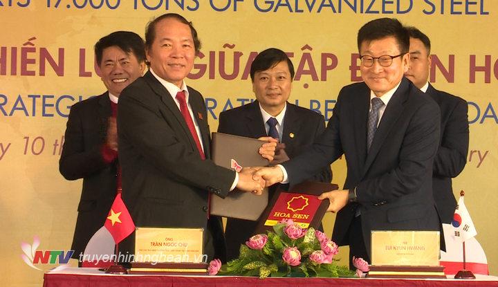ập đoàn Hoa Sen đã chính thức ký kết hợp tác chiến lược với Tập đoàn SK – tập đoàn Hàn Quốc sở hữu công ty SK Shipping.