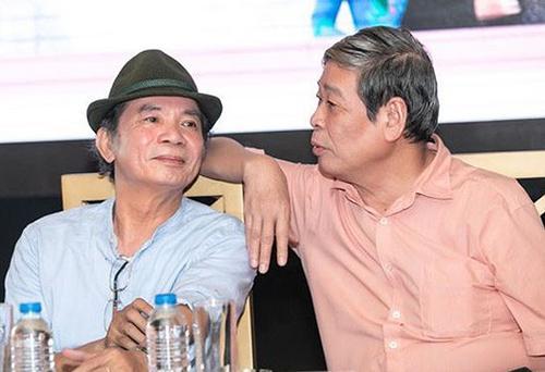 Nhạc sĩ Nguyễn Trọng Tạo và nhà thơ Thụy Kha (phải).