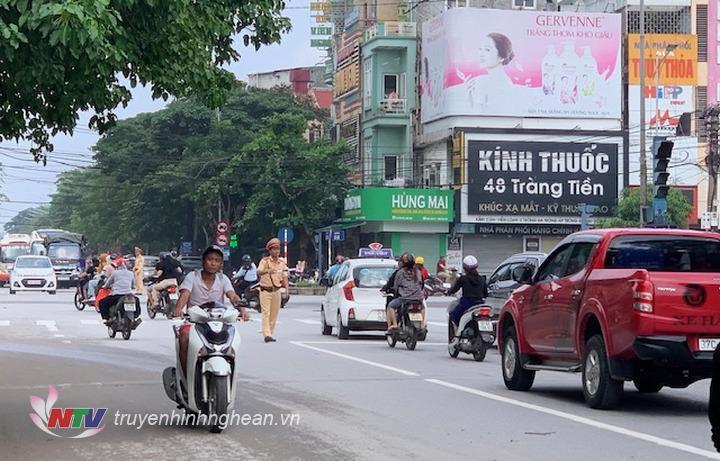 Giao thông trên địa bàn thành phố Vinh trở lại bình thường