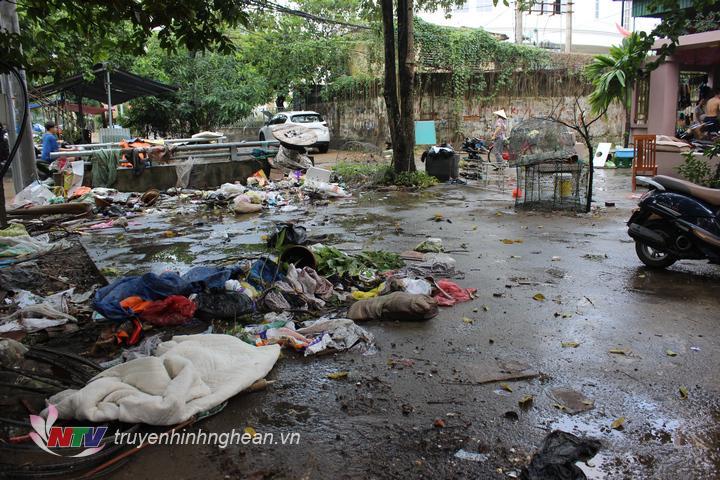 Hình ảnh ghi nhận trong khu dân cư đường Nguyễn Tài.
