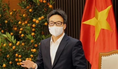 Phó Thủ tướng Vũ Đức Đam chủ trì cuộc họp Thường trực Ban Chỉ đạo quốc gia phòng chống dịch bệnh COVID-19 chiều mùng 2 Tết.